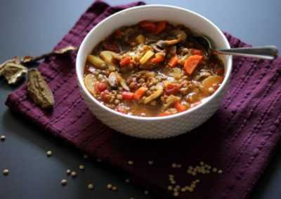 Суп из грибов и фарро — просто и вкусно на каждый день