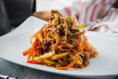Салат Фунчоза с говядиной по-корейски — просто и вкусно на каждый день