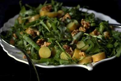 Салат из рукколы, фасоли и картофеля — просто и вкусно на каждый день
