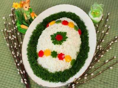 Салат с копченой грудинкой Пасхальный — просто и вкусно на каждый день