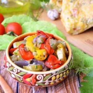 ПП Салат из запечённых овощей - пошаговый рецепт с фото - Полезный рецепт