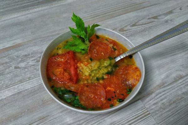 Чечевичный суп с колбасой чоризо, рецепт с фото и видео - просто,вкусно - фоторецепт пошагово