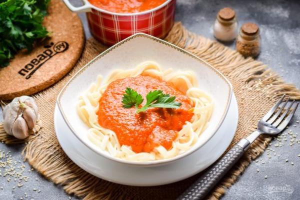 Соус для макарон - просто,вкусно - фоторецепт пошагово