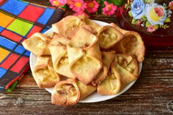 """Печенье """"Творожные платочки"""" - просто,вкусно - фоторецепт пошагово"""