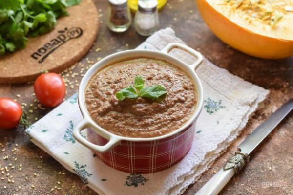 Печеночный паштет с тыквой - просто,вкусно - фоторецепт пошагово