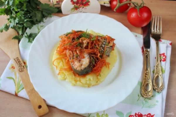 Пеленгас в томатном соусе в духовке - просто,вкусно - фоторецепт пошагово