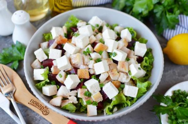 Салат с копчёной рыбой - просто,вкусно - фоторецепт пошагово