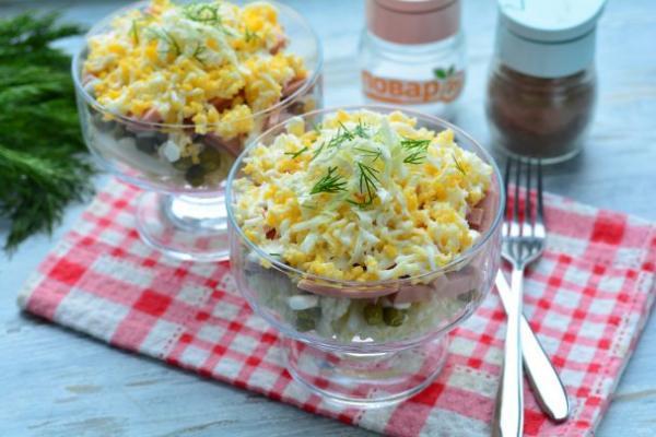 Слоеный салат из пекинской капусты - просто,вкусно - фоторецепт пошагово